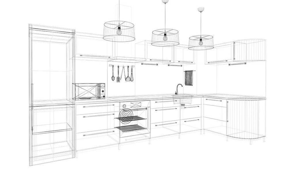 Kitchen Fitters in Stafford - Sketch Example